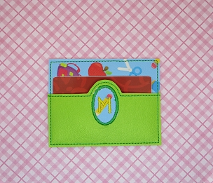 Circle Monogram Credit Card Holder Embroidery Design